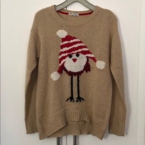 Jolt Holiday Sweater with Owl Size Medium